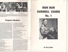 Original Rare Iron Man Dumbell Course #1 Peary Rader bodybuilding booklet 12 pg