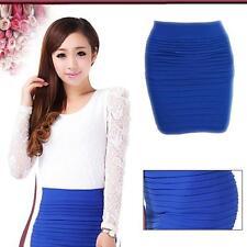 jupe pour femme en taille unique haute élastique ( XS au L maxi ) couleur bleu.