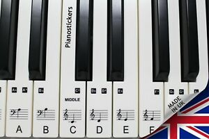 Piano Stickers for 49/61 key Keyboard, Clear, Laminated, Ultra thin, Removable