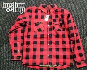Kevlar flannel/Motorcycle kustomshop shirt. Lined with DuPont™ KEVLAR® RED XL