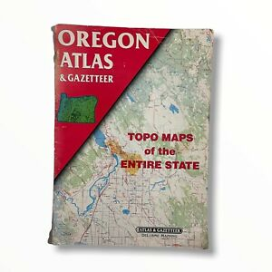 OREGON ATLAS AND GAZETTEER TOPO MAPS of ENTIRE STATE Delorme Mapping 1991 1st Ed