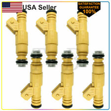 6 X Oem Bosch Fuel Injectors For Jeep Cherokee 1989 1998 40l Ev1 4 Holes