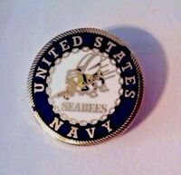 United States Navy Seabees Hat Pin  1""