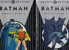 DC ARCHIV EDITION (deutsch) # 3 + 6 - BATMAN 1 + 2 - DINO VERLAG 2000 - OVP