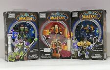 MEGA BLOKS World of Warcraft set of 3 Ironoak Valoren Colton Figure