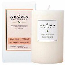 Aroma Naturals AromaTherapy Candle Peace Pearl Orange Clove Cinnamon Scent ~ i5