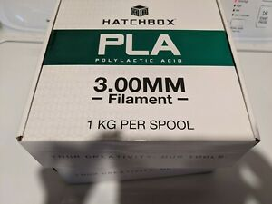 Hatchbox 3.00mm PLA filament - 1kg each - lot of two spools - FREE SHIPPING