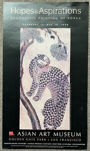 Tiger With Magpies Hojakdo Hanging Korean Scroll Choson Dynasty Museum Poster