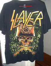 Slayer Concert Shirt Size Medium Black 1 sided Kerry King Tom Arroya Skull Guns