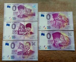 5 X 0 Euro Souvenir - Set Of The 100 Year - special - Different serial
