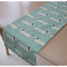 "Small 36"" Runner 90cm Dachshunds Sausage Dogs 36"" Dachsund Dog  Duck Egg Blue"