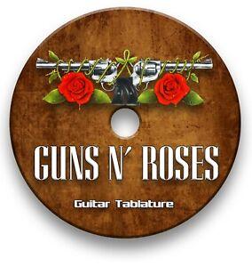 Guns n Roses Hard Rock Tabs Tablature Lesson Software CD - Guitar Pro