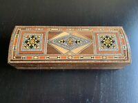 Wooden Mosaic Box inlaid with mother of Pearl - Handmade