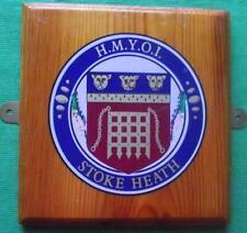More details for vintage obsolete h m prison service hmyoi stoke heath crest plaque shield 8