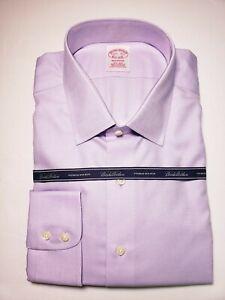 NWT! Brooks Brothers Men's Light Violet Cotton Long Sleeve Shirt! Size 17 H 35
