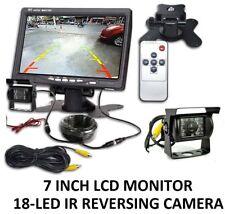 "18 IR Reversing Camera+7"" LCD Monitor Car Rear View Kit For Bus Long Truck UK"
