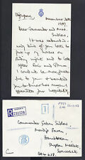 Prince Charles Signed Letter Highgrove 1987 to Royal Navy Commander Sudlow