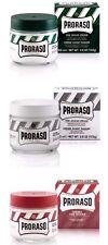 Proraso Pre Shave Cream  100ml - Triple Pack Pre Shave Tubs