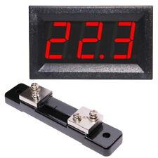 0-50A DC Ampèremètre avec Shunt LED Rouge Bleu Vert Numérique Digital Display