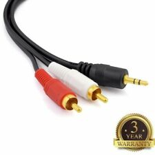5ft 3.5mm AUX Stereo to 2 RCA Male Audio Y Cable Adapter Cord MP3 iPod