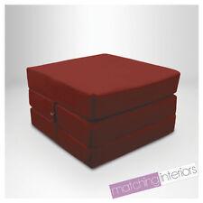 vin 100% coton replié simple lit Z Cube invité futon FAUTEUIL-LIT Budget studio