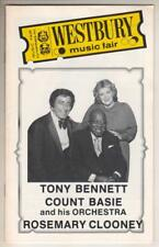 Tony Bennett, Count Basie, Rosemary Clooney Playbill '82 Westbury Music Fair