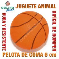 JUGUETE PERRO GATO PELOTA BALONCESTO GOMA RESISTENTE 6 cm DIAMETRO L157 3152