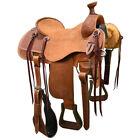 "New! 15"" HR Custom Made Ranch Roping Saddle Code: HR15RR12BSK"