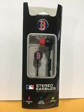 Boston Red Sox MLB Stereo Earbuds W/ Handsfree Mic iPhone / Android Compatible