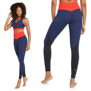 Vita Atletica Navy Blue Red Colorblock Noemi High Rise Yoga Pant Leggings M Med
