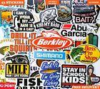 Boat Fishing Stickers 53 PCS SHIMANO ABU GARCIA Tackle Box Tool Box