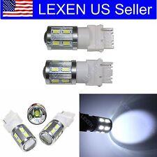 LED 2PCS Xenon White T25 12SMD BACK UP REVERSE LIGHT BULBS 3156 3155 L-302 a