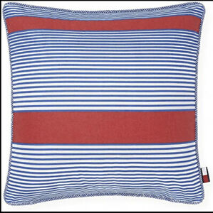 Tommy Hilfiger Arrowhead Stripe Blue/Red 20x20 Decorative Pillow