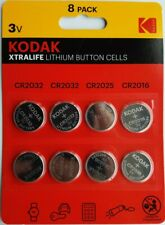 Kodak Max LITHIUM 3v Coin Cell Batteries CR2032 CR2025 CR2016 TOYS/KEYS E.T.C