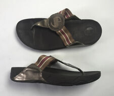 FitFlop Walkstar Brown Fitness Slide Thong Sandals 032-012 Women's 9 / EUR 41