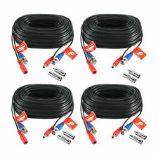 ZOSI 100ft Extension Video Power BNC RCA Connector Cord for Camera DVR (4 Piece)