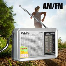 Mini Portable AM / FM Radio Telescopic Antenna World Receiver Speaker with box