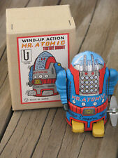 "NIB ~ Repro MR ATOMIC Blue 4"" Toy Cragstan by Yonezawa JAPAN ~ FREE SHIPPING"