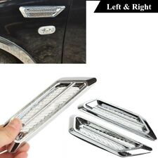 2x Chrome Universal Car Auto Air Flow Fender Side Vent Decor Sticker Accessories