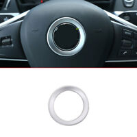 Chrome Car Steering Wheel Decoration Ring Cover Trim for BMW X1 F48 2016 2017