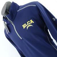 NWT Men Under Armour UA Blue Athletic 1/2 Zip Workout Track Shirt Jacket Size XL