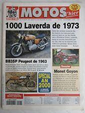 MOTOS d'hier N°20 /1000 LAVERDA 1973/ BB3SP PEUGEOT 1963/dossier MONET GOYON