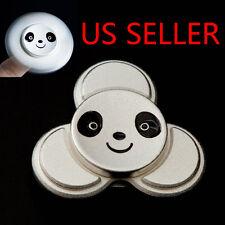 Panda Znic Alloy Tri-Spinner Fidget Toy EDC Hand Finger Spinner Silver