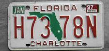 1997 FLORIDA LICENSE PLATE  # H73 78N