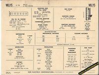 1963 WILLYS JEEP L6 226 ci DELCO/AUTOLITE 6 VOLT Car SUN ELECTRONIC SPEC SHEET