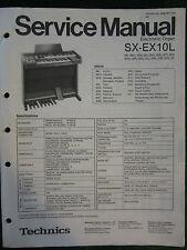 Technics Electronic Organ Service Manual SX EX10L Wiring Schematics Parts List