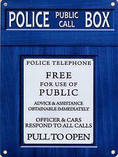 Police Box large steel sign 400mm x 300mm (og)
