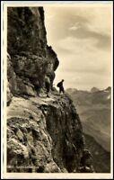 Alpen Berge Bergkletterer Laufbacher Eck alte AK ~1940