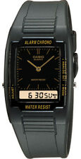 Casio AQ47-1E Men's Black Resin Band Analog Digital Dual Time Zone Watch