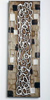 """Urbanest Framed Stretched Memory Wall Art Abstract, Canvas Oil Painting 12""""x36"""""""